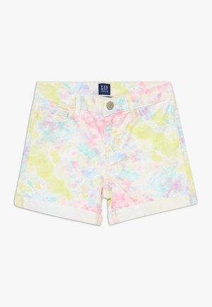 GIRL TIE DYE MIDI - Denim shorts - multicoloured