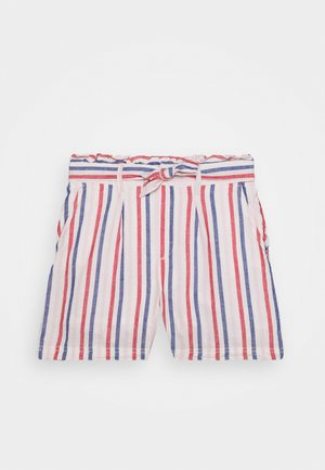 GIRL PAPERBAG - Shorts - off white/red/blue