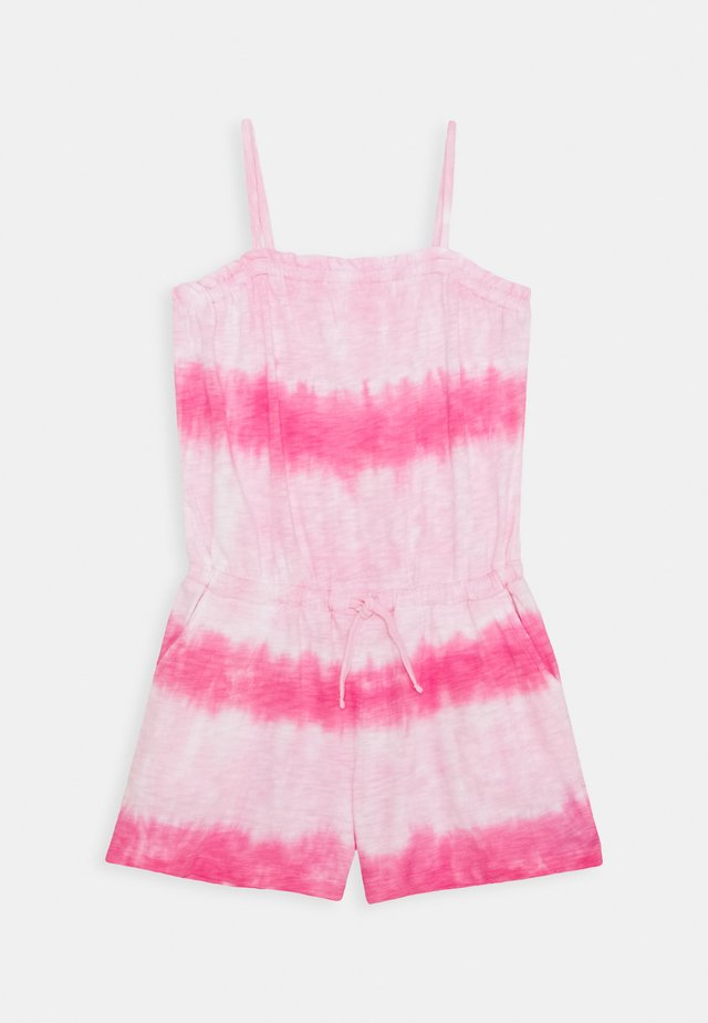 GIRL - Tuta jumpsuit - pink tie dye