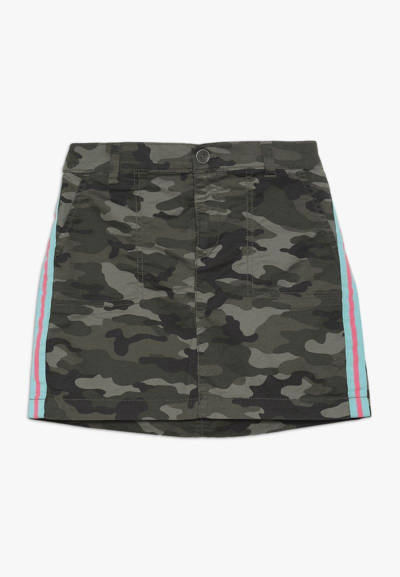 GAP - GIRL CAMO SIDE STRIPE SKIRT - Minifalda - green