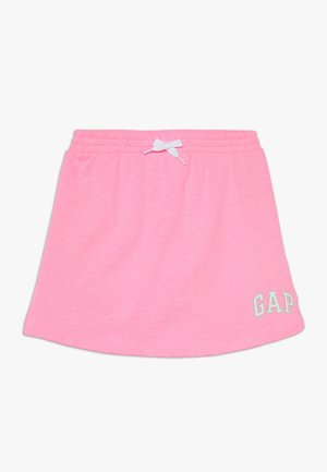 GIRL LOGO SKORT - Mini skirt - neon impulsive pink