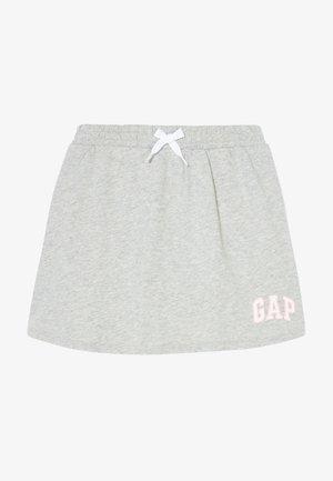 GIRL LOGO SKORT - Mini skirt - light heather grey