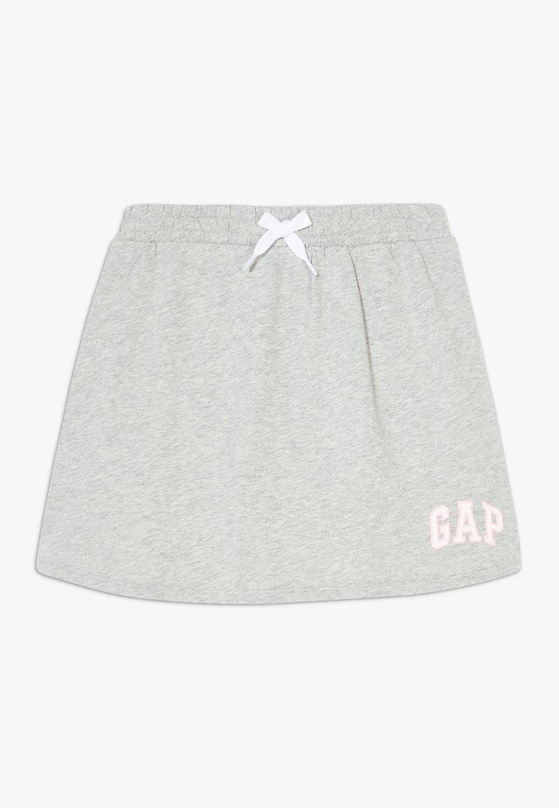 GAP - GIRL LOGO SKORT - Mini skirt - light heather grey
