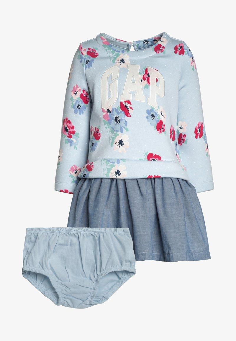GAP - ARCH BABY GIRL SET - Korte jurk - poolside blue