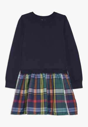 GIRL PLAID - Strickkleid - navy uniform
