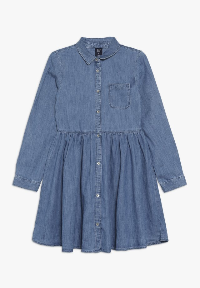 GIRL - Denim dress - medium indigo