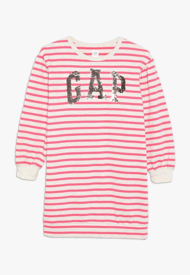 GIRL - Vapaa-ajan mekko - beige melange/pink