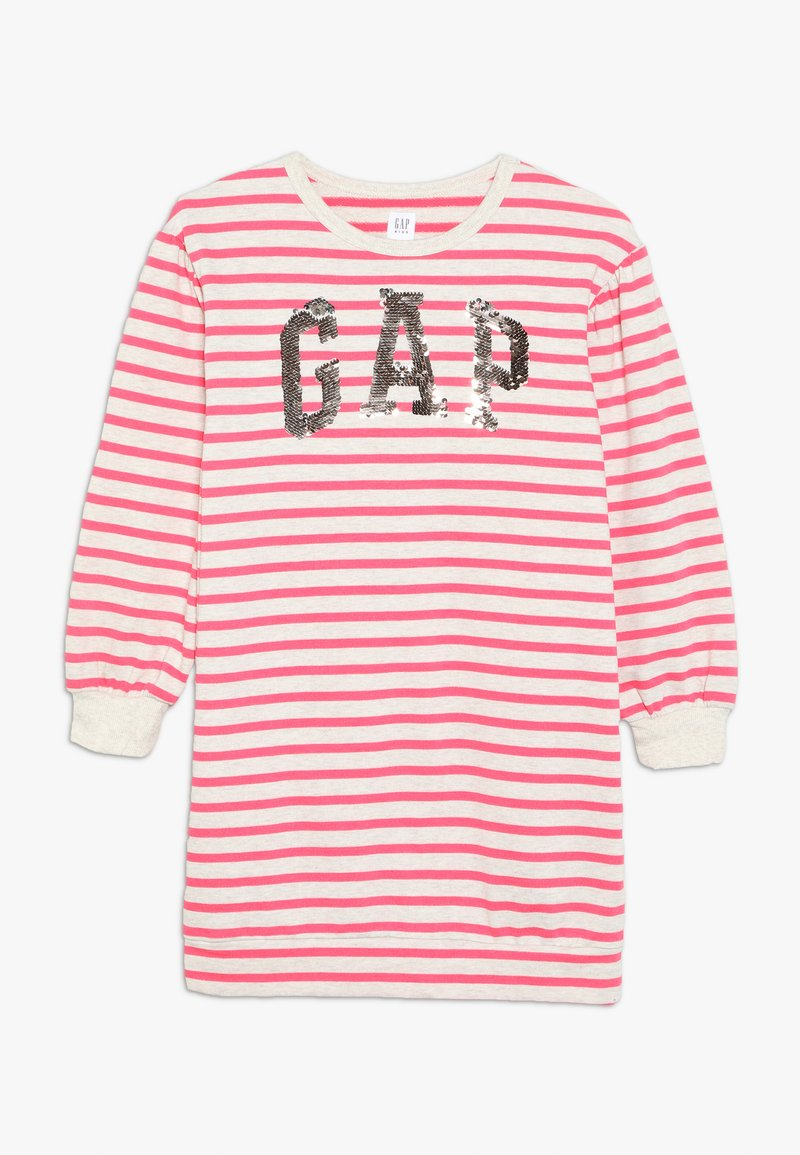 GAP - GIRL - Denní šaty - beige melange/pink