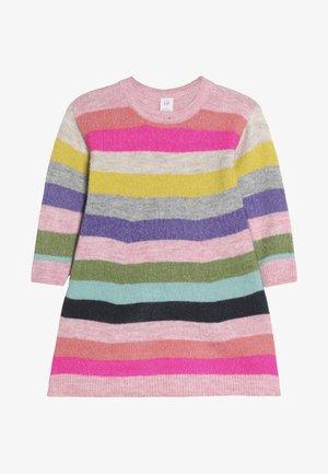 TODDLER GIRL CRAZY - Stickad klänning - multi-coloured