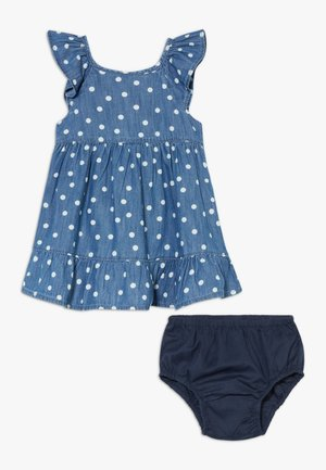 DOT SET - Korte jurk - blue denim