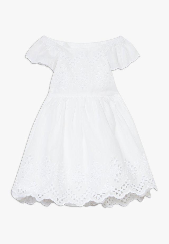 EYELET DRESS - Vestito estivo - optic white