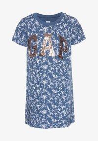 GAP - GIRL SHIFT DRESS - Korte jurk - blue - 0