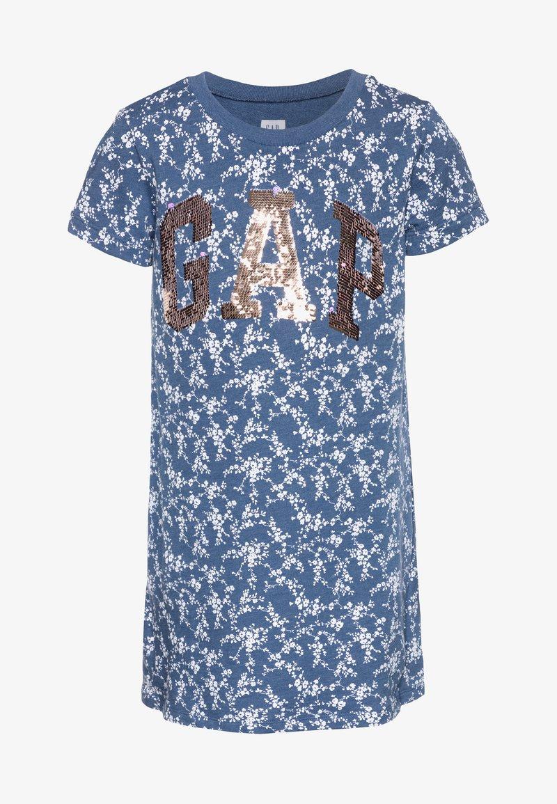 GAP - GIRL SHIFT DRESS - Korte jurk - blue