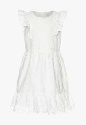 GIRL V-EYELET DRESS - Robe d'été - new offwhite
