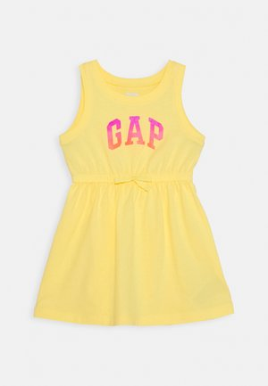 TODDLER GIRL LOGO TANK - Vestito di maglina - yellow sun