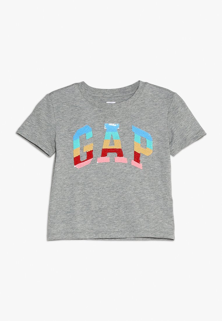 GAP - GIRLS TEE - Camiseta estampada - grey heather