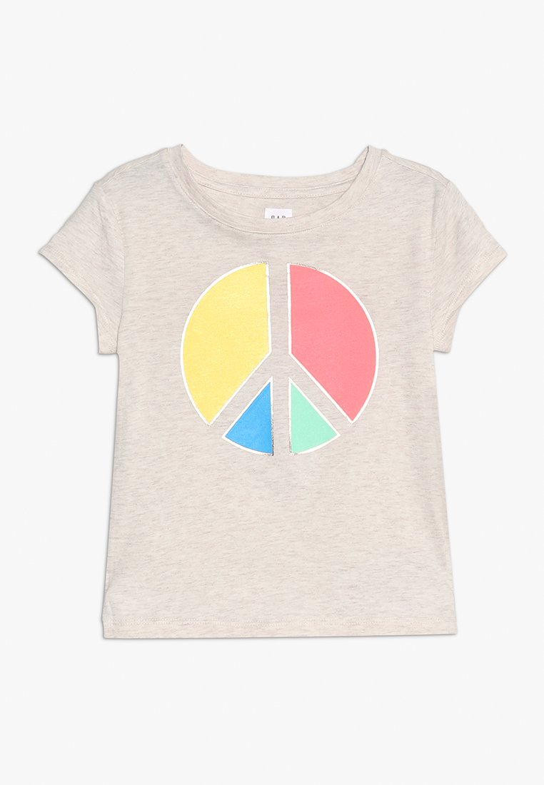GAP - GIRL GRAPHIC - T-Shirt print - oatmeal heather