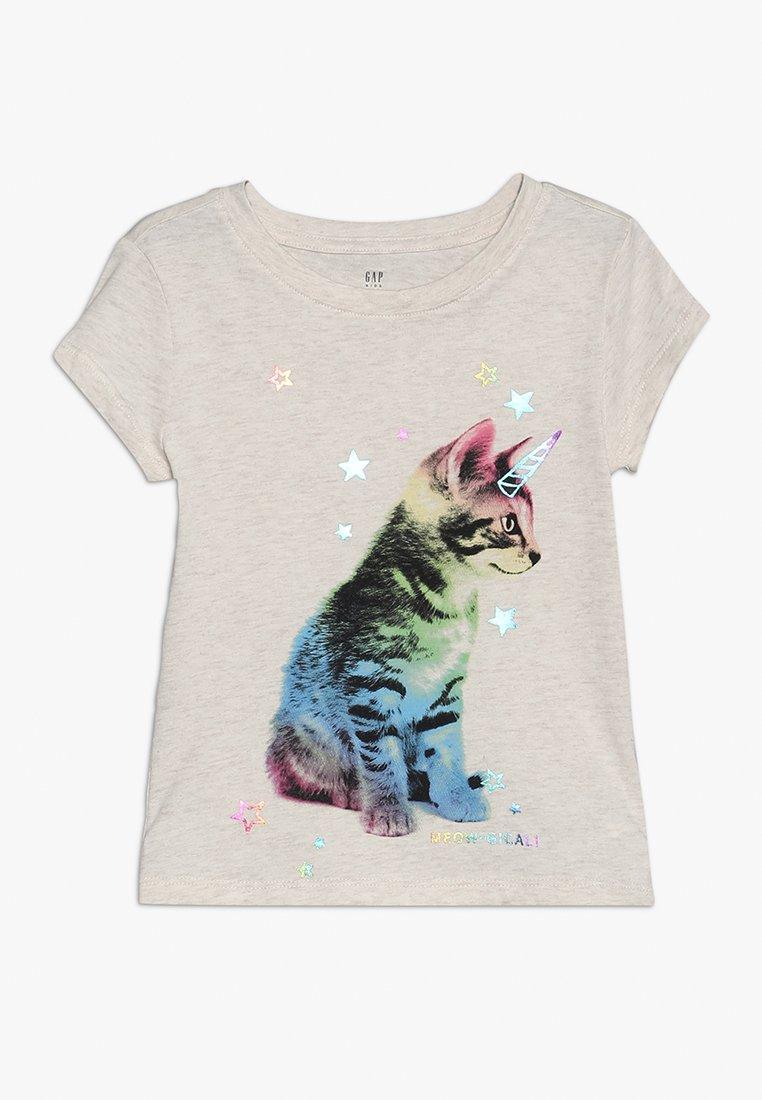 GAP - GIRL MAY - Print T-shirt - mottled grey