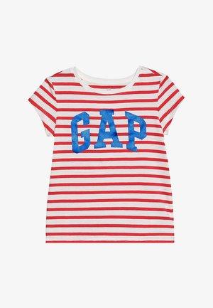 GIRLS LOGO - Print T-shirt - red tulip