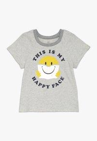 GAP - GIRLS - Print T-shirt - grey heather - 0