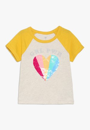 GIRLS - Print T-shirt - grey/yellow