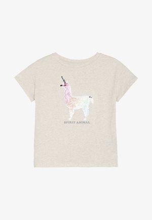 GIRL - T-shirt med print - off-white