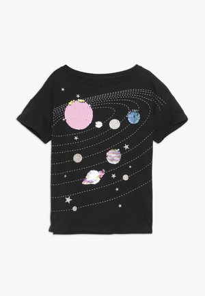 GIRL - T-shirt z nadrukiem - moonless night