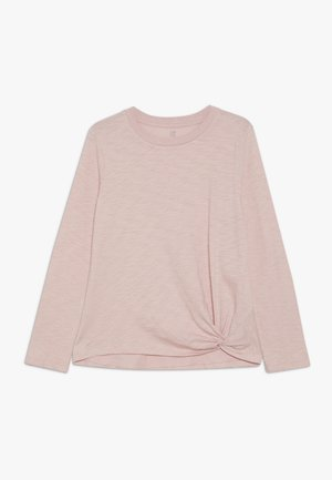 GIRL STEP HEM - Long sleeved top - pink standard
