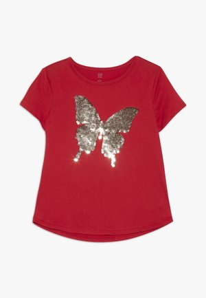 GIRL - Print T-shirt - red