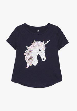 GIRL - Print T-shirt - navy uniform
