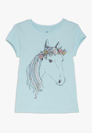 GIRL - Print T-shirt - aquarium