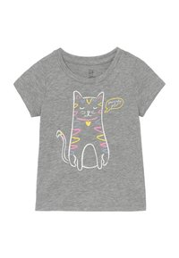 GAP - TODDLER GIRLS - T-shirt imprimé - grey heather - 0