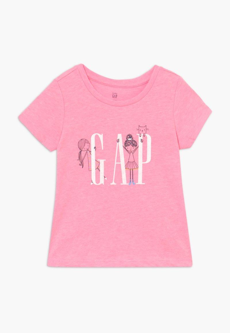 GAP - TODDLER GIRLS - Print T-shirt - neon impulsive pink