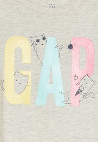 GAP - TODDLER GIRL LOGO - Print T-shirt - grey heather - 3