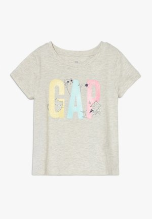 TODDLER GIRL LOGO - T-shirt print - grey heather