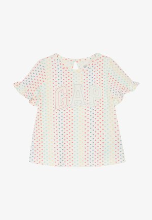 T-shirts med print - ivory frost