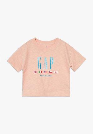 GIRL LOGO WORLDWIDE TEE - Print T-shirt - peach shadow