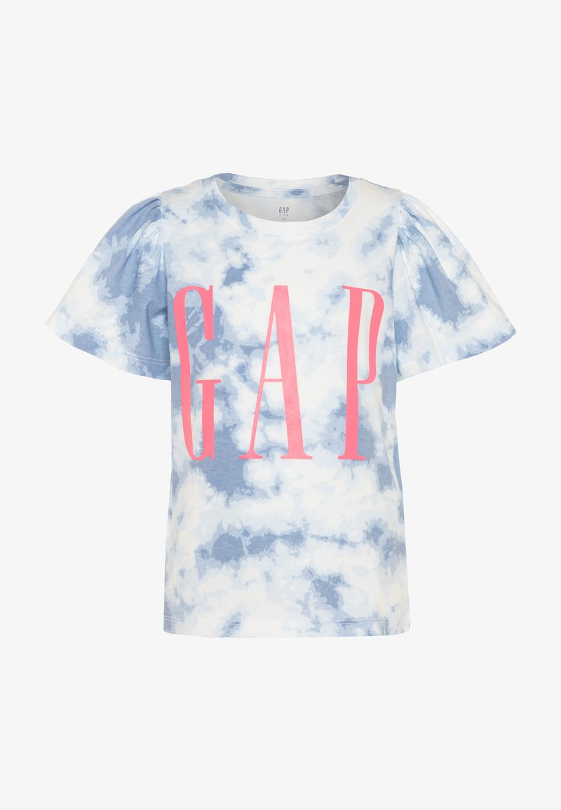 GAP - GIRL LOGO TIE DYE - Print T-shirt - blue