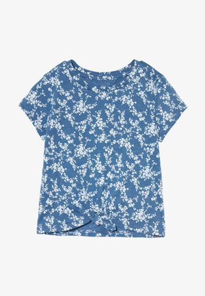 GIRL TIE HEM TEE  - Print T-shirt - blue