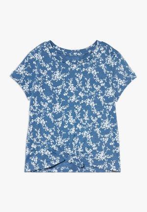 GIRL TIE HEM TEE  - Triko spotiskem - blue