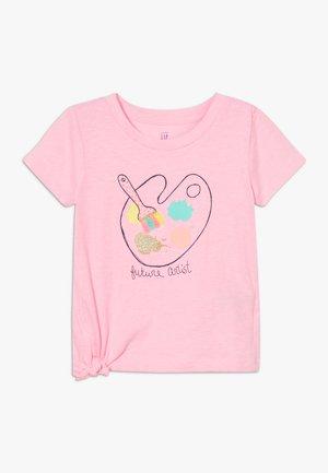 TODDLER GIRL TIE  - Triko spotiskem - pink
