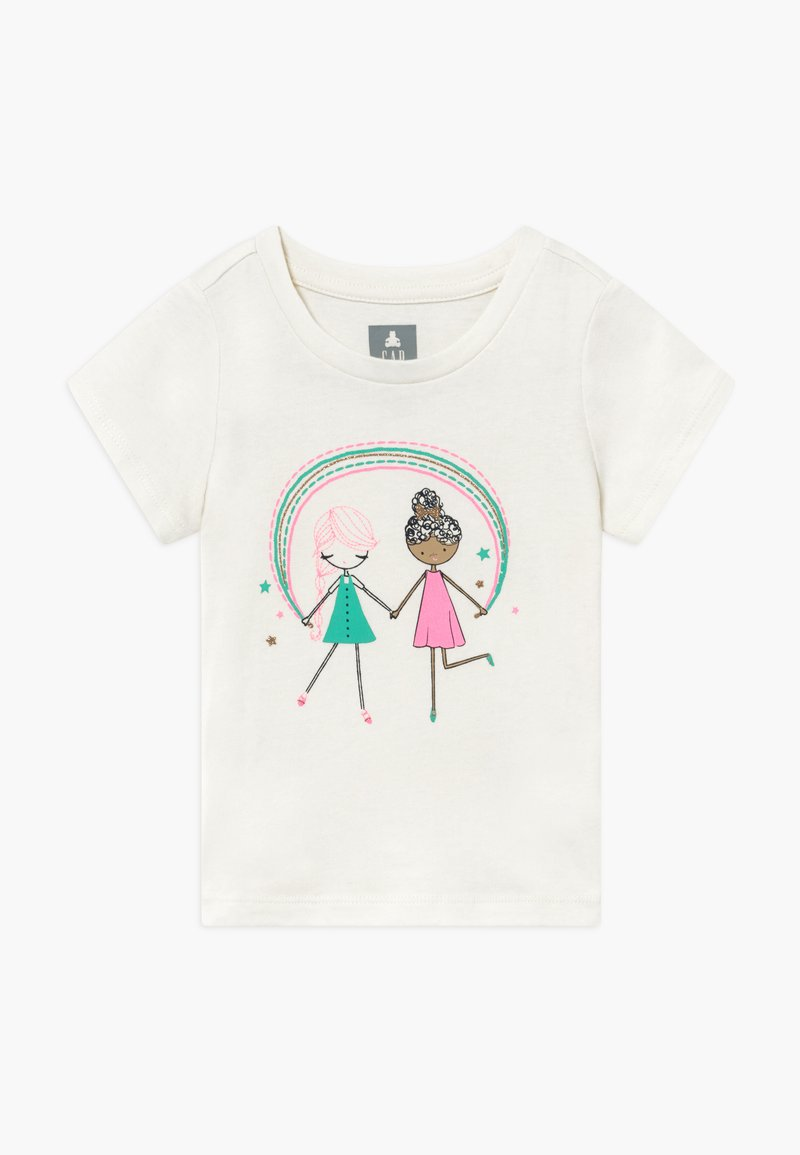 GAP - TODDLER GIRL  - Camiseta estampada - off-white/pink
