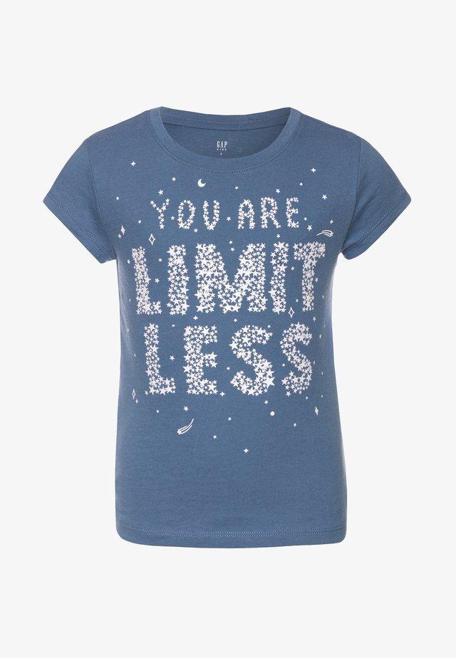 GIRL  - T-shirt con stampa - bainbridge blue