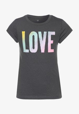 GIRL  - T-shirt print - blue slate