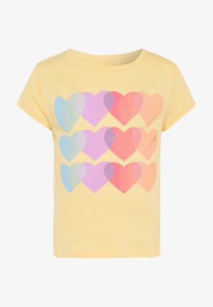 GIRL  - Print T-shirt - havana yellow