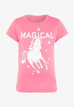 GIRL  - Print T-shirt - pink pop neon