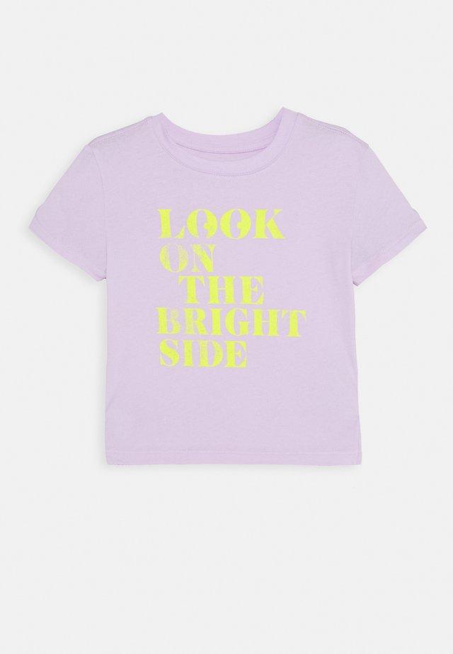 GIRLS BOXY - T-shirt print - pale lilac