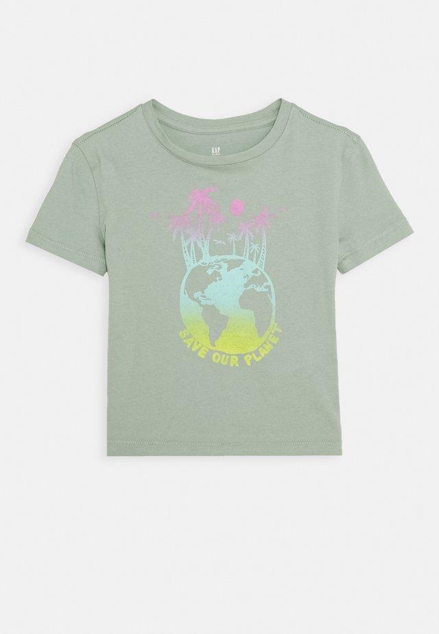 GIRLS BOXY - T-shirt print - jadeite
