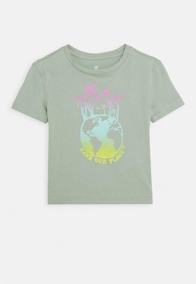 GAP - GIRLS BOXY - Print T-shirt - jadeite