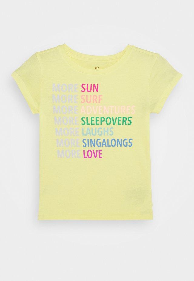 GIRLS - Triko spotiskem - yellow sun